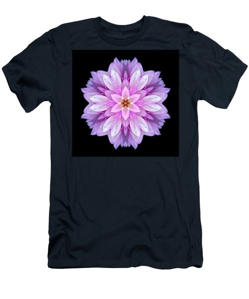 Violet Dahlia I Flower Mandala Men's T-Shirt (Athletic Fit)