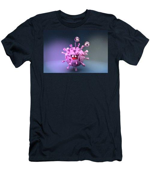 Virus Particle, Illustration Men's T-Shirt (Athletic Fit)