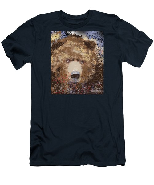 Visionary Bear Men's T-Shirt (Slim Fit) by Kim Prowse