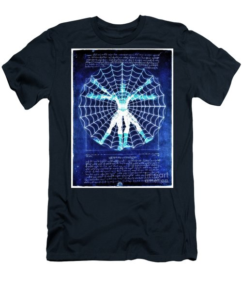 Vitruvian Spiderman White In The Sky Men's T-Shirt (Athletic Fit)