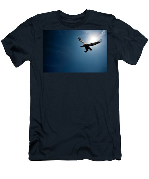 Vulture Flying In Front Of The Sun Men's T-Shirt (Slim Fit) by Johan Swanepoel