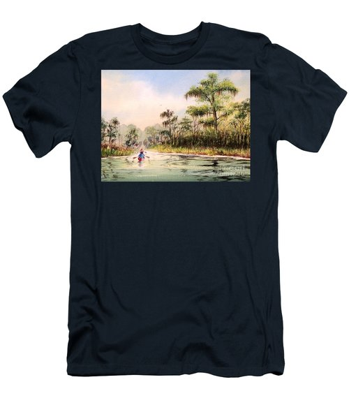 Wacissa River  Men's T-Shirt (Slim Fit) by Bill Holkham