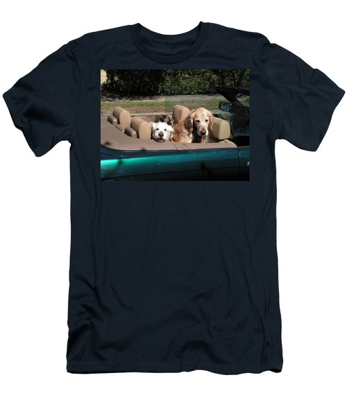 Men's T-Shirt (Slim Fit) featuring the photograph Waiting Patiently by Cheryl Hoyle