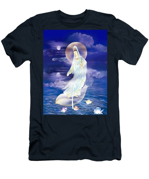 Water Moon Avalokitesvara  Men's T-Shirt (Slim Fit) by Lanjee Chee