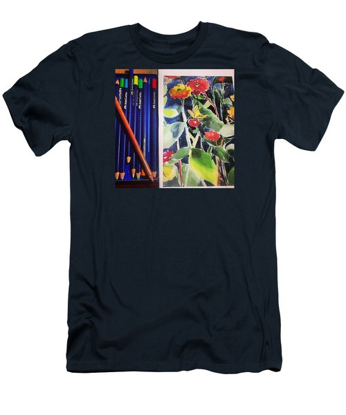 Watercolor Greetings Cards.... Pintando Men's T-Shirt (Athletic Fit)