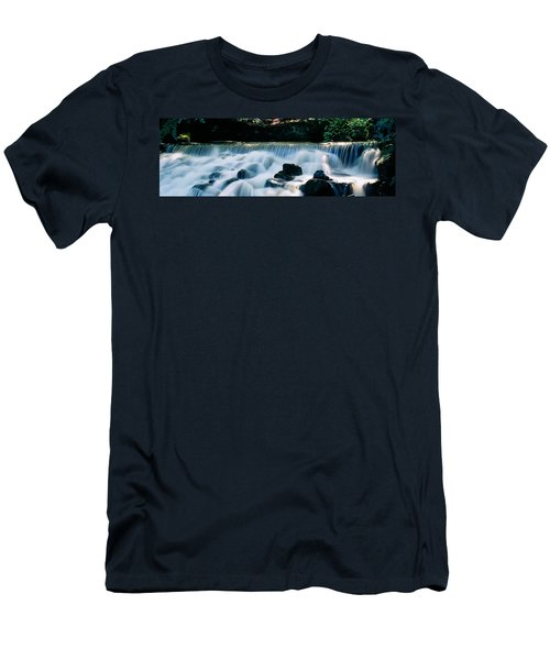 Waterfall In A Forest, Aberfeldy Birks Men's T-Shirt (Athletic Fit)