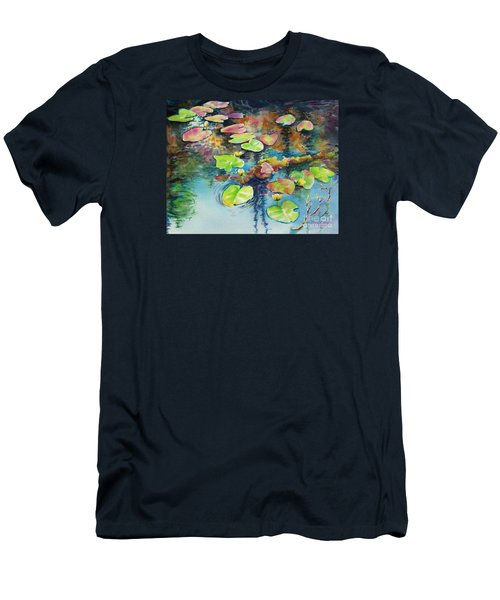 Waterlilies In Shadow Men's T-Shirt (Athletic Fit)