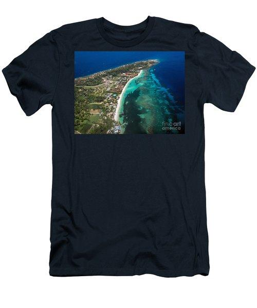 West End Roatan Honduras Men's T-Shirt (Slim Fit) by Peggy Hughes