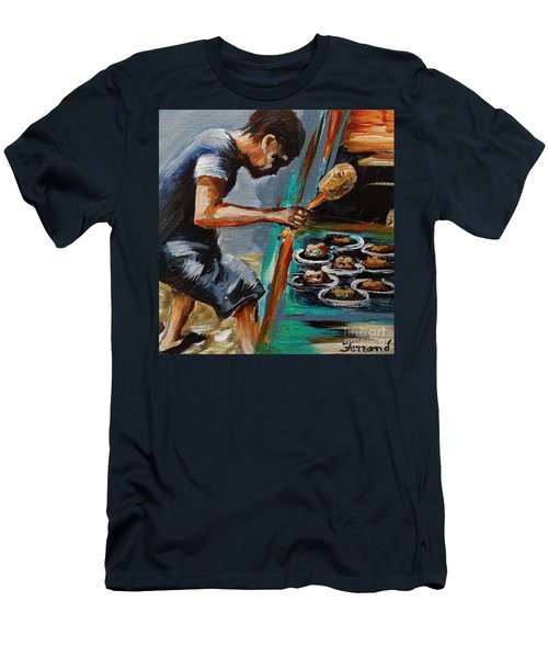 Whack A Mole Men's T-Shirt (Slim Fit) by Karen  Ferrand Carroll