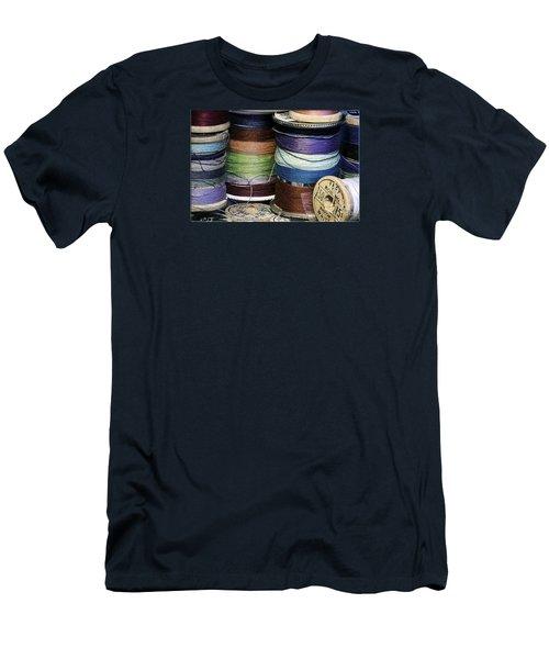Spools Of Thread Men's T-Shirt (Slim Fit) by Jean OKeeffe Macro Abundance Art