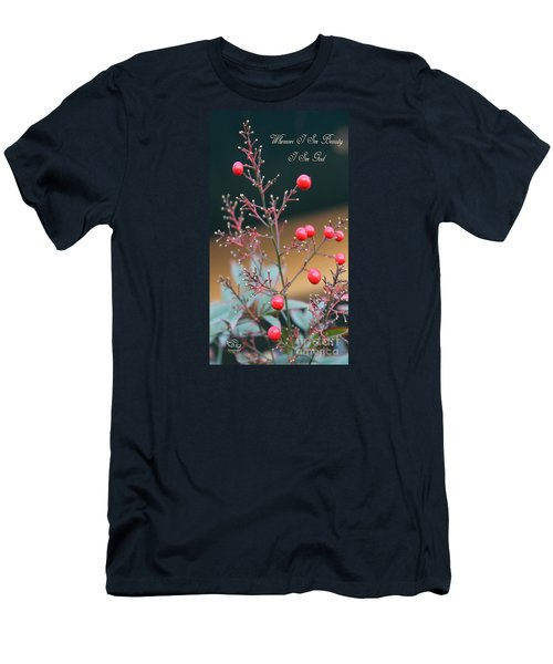 Men's T-Shirt (Athletic Fit) featuring the photograph Whenever I See Beauty by Beauty For God