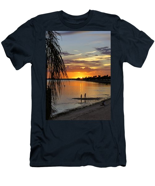 Men's T-Shirt (Slim Fit) featuring the photograph Whiskey Joe's by Laurie Perry