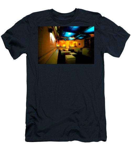 White Lounge Men's T-Shirt (Slim Fit) by Melinda Ledsome