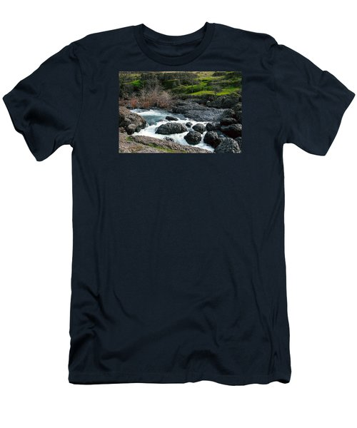 Whitewater At Bear Hole Men's T-Shirt (Athletic Fit)