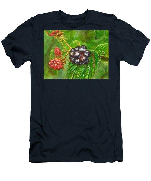 Wild Blackberries Men's T-Shirt (Athletic Fit)