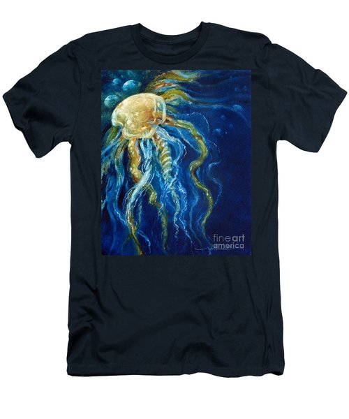 Wild Jellyfish Reflection Men's T-Shirt (Athletic Fit)