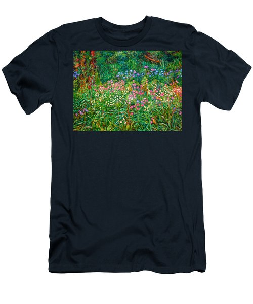 Men's T-Shirt (Slim Fit) featuring the painting Wildflowers Near Fancy Gap by Kendall Kessler