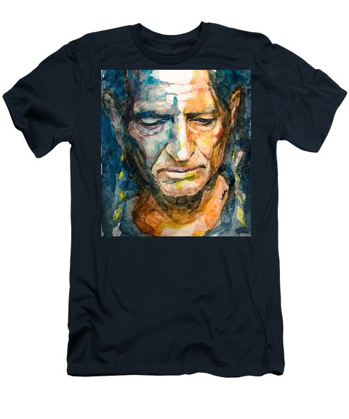 Willie Nelson  Men's T-Shirt (Slim Fit) by Laur Iduc