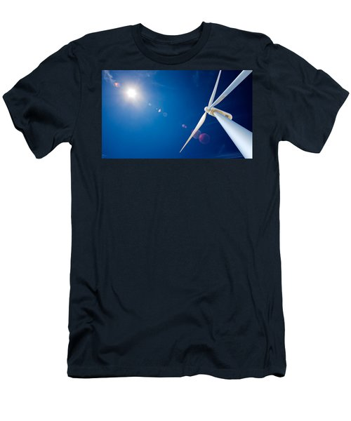 Wind Turbine And Sun  Men's T-Shirt (Athletic Fit)
