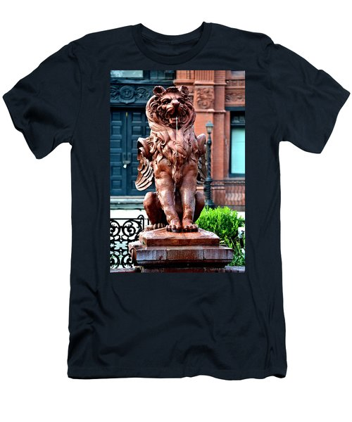 Winged Lion Fountain Men's T-Shirt (Slim Fit) by Tara Potts