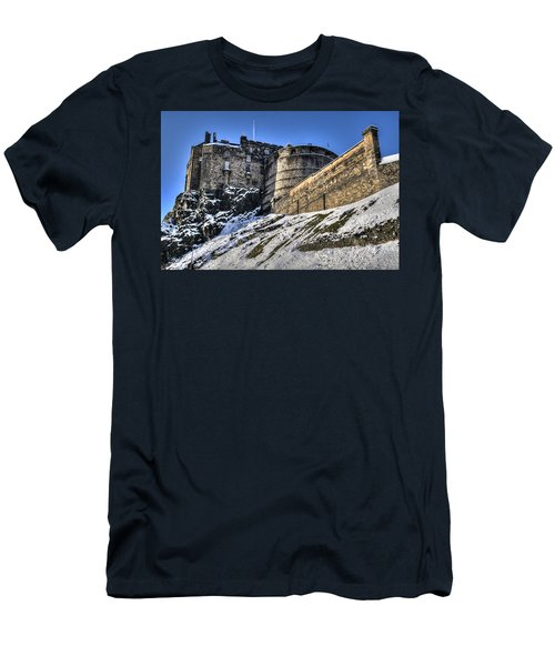 Winter At Edinburgh Castle Men's T-Shirt (Athletic Fit)