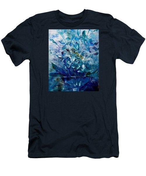 Winter Bouquet Men's T-Shirt (Slim Fit) by Lisa Kaiser