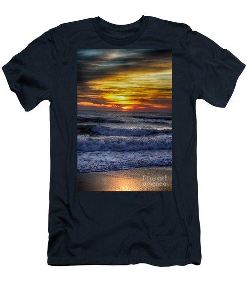 Winter North Carolina Sunrise Men's T-Shirt (Slim Fit) by Tony Cooper