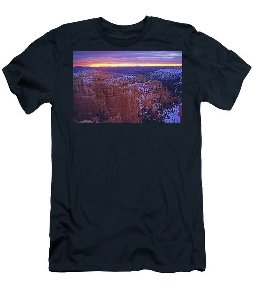 Men's T-Shirt (Slim Fit) featuring the photograph Winter Sunrise At Bryce Canyon by Susan Rovira
