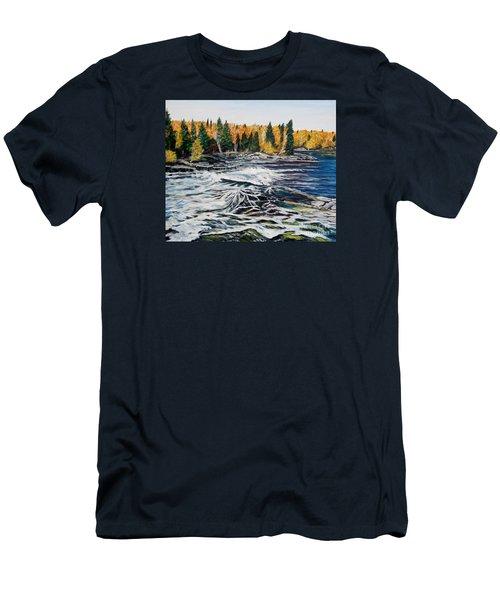 Wood Falls 2 Men's T-Shirt (Slim Fit) by Marilyn  McNish