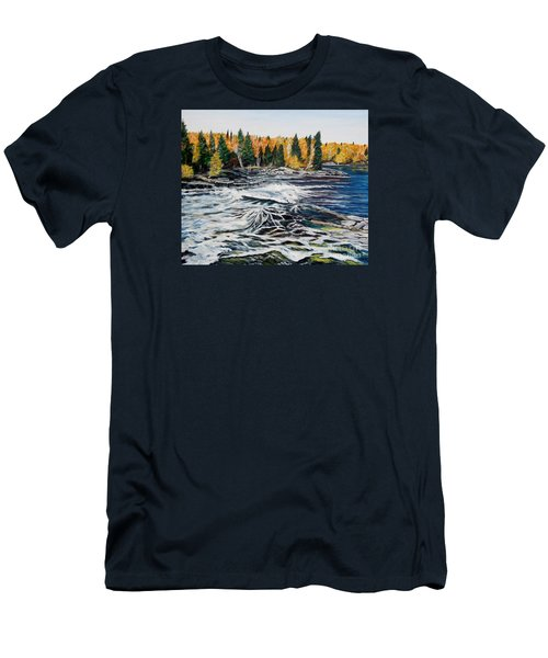 Wood Falls 2 Men's T-Shirt (Athletic Fit)