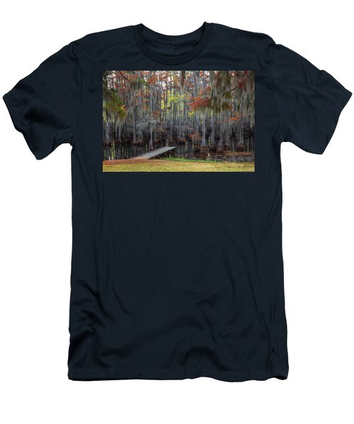 Wooden Dock On Autumn Swamp Men's T-Shirt (Athletic Fit)