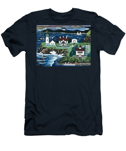 Yaquina Lighthouse Men's T-Shirt (Athletic Fit)