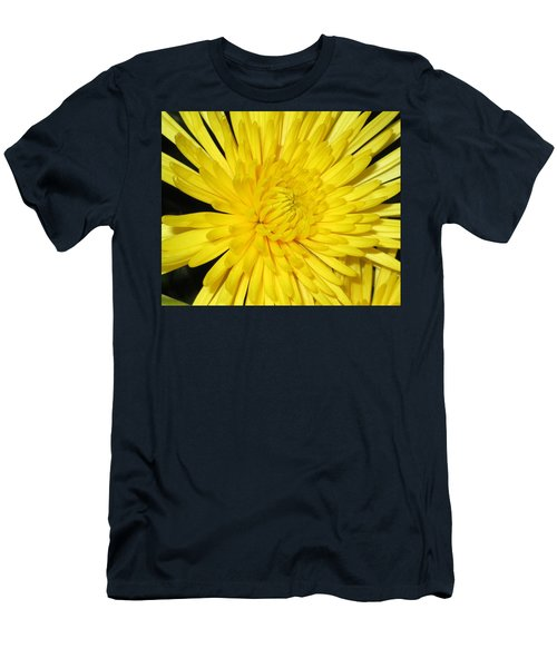 Yellow Flower Closeup Men's T-Shirt (Slim Fit) by Barbara Yearty