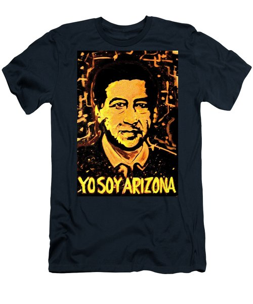 Men's T-Shirt (Athletic Fit) featuring the painting Yo Soy Arizona by Michelle Dallocchio