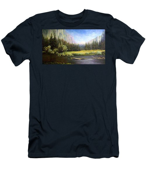 Yosemite Men's T-Shirt (Slim Fit) by Loxi Sibley