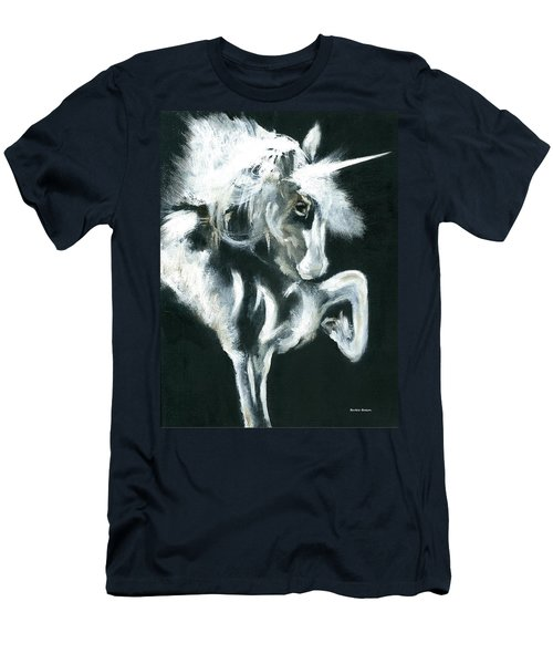 Men's T-Shirt (Slim Fit) featuring the painting Unicorn by Barbie Batson