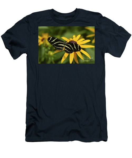 Zebra Butterfly Men's T-Shirt (Athletic Fit)