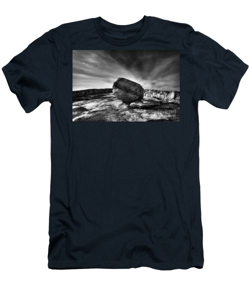 Zen Black White Men's T-Shirt (Athletic Fit)