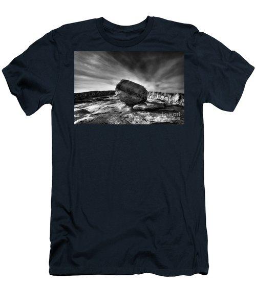 Zen Black White Men's T-Shirt (Athletic Fit)