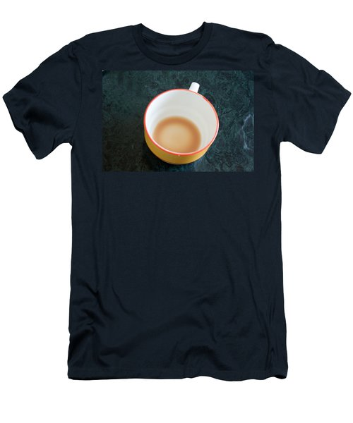 A Cup With The Remains Of Tea On A Green Table Men's T-Shirt (Slim Fit) by Ashish Agarwal