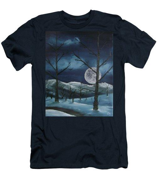 Winter Night Men's T-Shirt (Athletic Fit)
