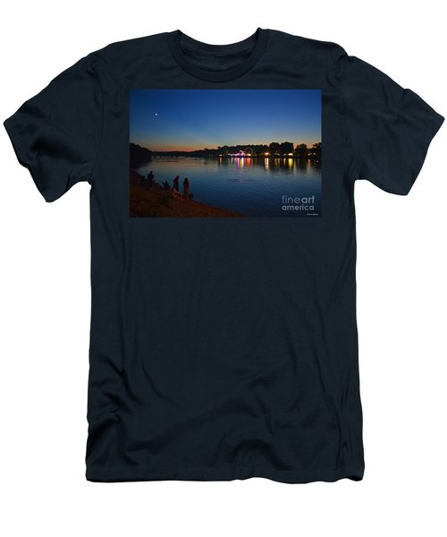 Riverview Men's T-Shirt (Slim Fit) by Sue Stefanowicz
