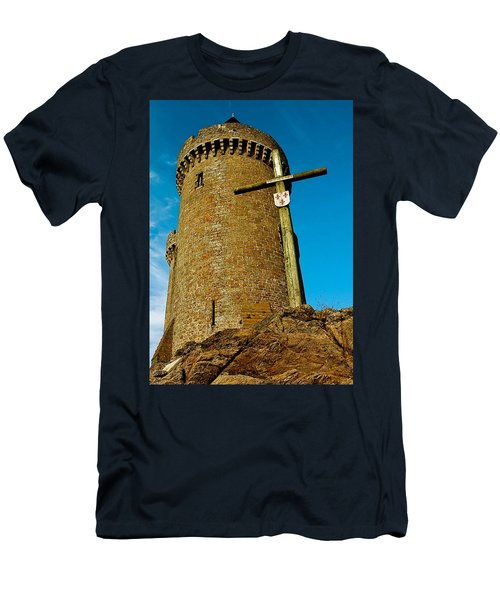 Men's T-Shirt (Slim Fit) featuring the photograph Solidor And Cross by Elf Evans
