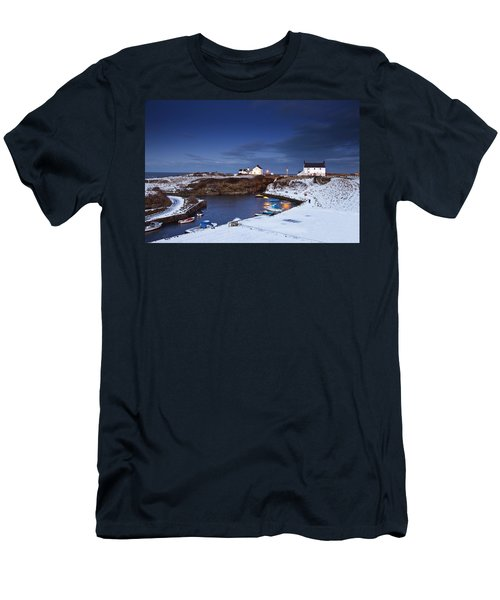 Men's T-Shirt (Slim Fit) featuring the photograph A Village On The Coast Seaton Sluice by John Short