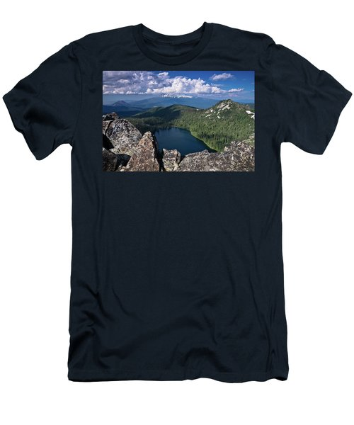 Above Castle Lake Men's T-Shirt (Athletic Fit)