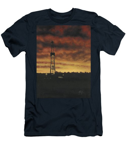 Men's T-Shirt (Athletic Fit) featuring the painting All Lit Up by Tammy Taylor