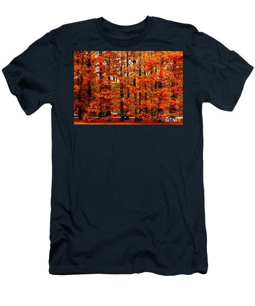 Autumn Red Maple Landscape Men's T-Shirt (Athletic Fit)