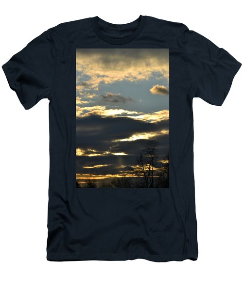 Backlit Clouds Men's T-Shirt (Athletic Fit)