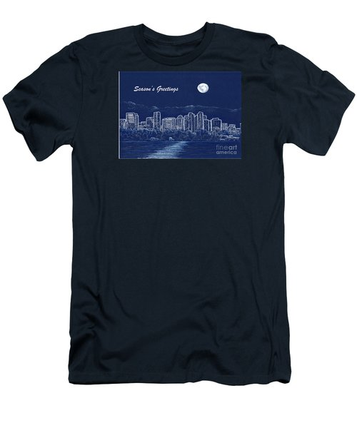 Bellevue Skyline Holiday Card Men's T-Shirt (Athletic Fit)
