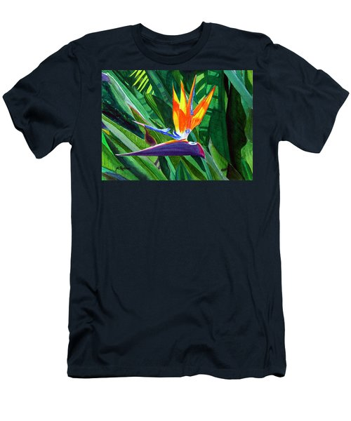 Bird-of-paradise Men's T-Shirt (Slim Fit) by Mike Robles